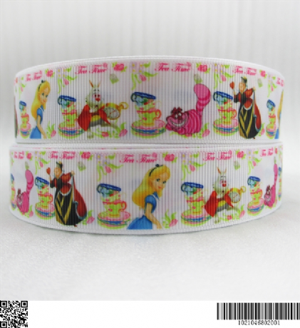 1 METRE NEW ALICE IN WONDERLAND RIBBON SIZE 7/8 BOWS HEADBANDS CARD MAKING CRAFT